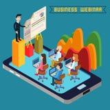 Business Webinar. Webinar Technology. Web Seminar. Modern Technology royalty free illustration