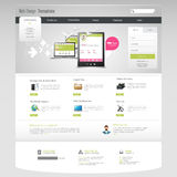 Business Website Design Template Stock Photography