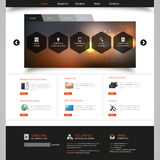 Business Website Design Template Stock Photos