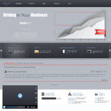 Business Website Design Template Royalty Free Stock Images