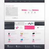 Business Website Design Template. Modern Website Template, Trendy Design Vector eps 10 Royalty Free Stock Images