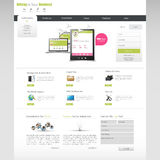 Business Website Design Template Royalty Free Stock Image