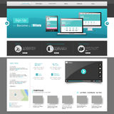 Business Website Design Template Royalty Free Stock Photo