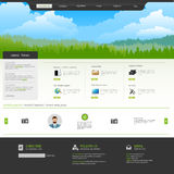 Business Website Design Template Stock Image