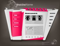Business website design template. Vector Royalty Free Stock Images