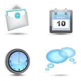Business website icon set Stock Image