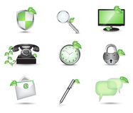 Business website icon set Royalty Free Stock Images