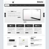 Business Website interface template vector design with realistic notebook illustration Stock Images