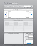 Business website layout template Stock Image