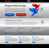 Business website silver template Royalty Free Stock Image
