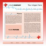 Business website template. A red business  website design template Stock Images