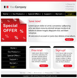 Business website template. Stylish and professional business website template Royalty Free Stock Image