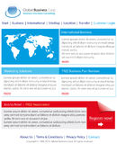 Business website template. Stylish and professional business website template Stock Images