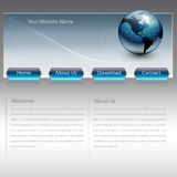 Business website template Stock Photos