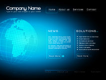 Business website template  Stock Image