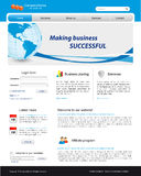Business website template. With illustration of the earth Stock Photography