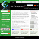 Business Website Template. A professional Business Website Template Royalty Free Stock Photos