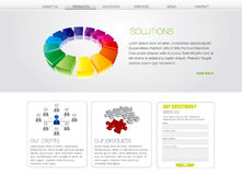 Business website template Stock Photography