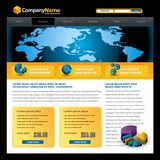 Business website template. Business vector website design template including a pie chart Stock Photo