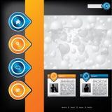 Business website template design Stock Photo