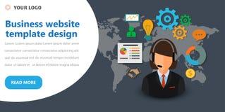Business website template design. Modern flat vector illustration concept of web page design for website and mobile website develo stock image