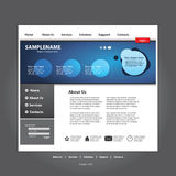 Business website template in editable format Royalty Free Stock Photo