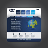 Business Website Template in Editable Vector Format Royalty Free Stock Images