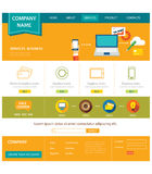 Business website template flat design Royalty Free Stock Photos