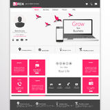 Business website template - home page design - clean and simple - with a space for a text Royalty Free Stock Photo