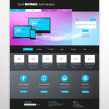 business website template - home page design - clean and simple - vector illustration Royalty Free Stock Photo