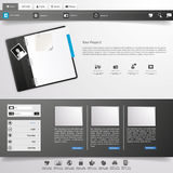 Business website template, vector, Royalty Free Stock Photos