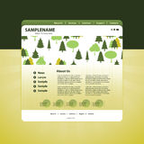 Business website template in vector format Royalty Free Stock Photography