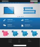 Business website template Stock Photos