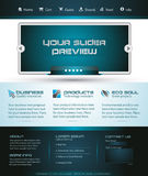 Business Webtemplate or Wordpress Blog Graphic Royalty Free Stock Photos