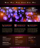 Business Webtemplate or Wordpress Blog Graphic Royalty Free Stock Photos
