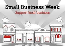 Business Week pequeno, Main Street EUA Imagens de Stock