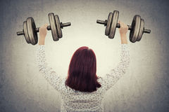 Business weights training royalty free stock photography