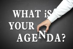 Business what is your agenda concept Royalty Free Stock Photos