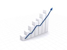 Business white graph Stock Photos