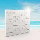 Business white puzzle concept Stock Photography