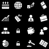 Business white web icons Royalty Free Stock Photography