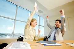 Business win Stock Photography