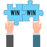 Business win win concept Royalty Free Stock Photos