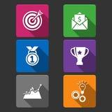 Business winner icons set stock illustration