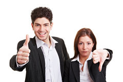 Business winner and loser Stock Photo
