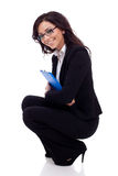 Business woma holding a clipboard Stock Images