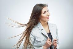 2 business woman 在行动的头发 库存照片