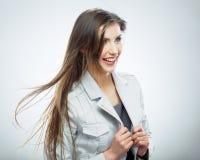2 business woman 在行动的头发 图库摄影