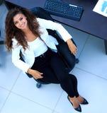 2 business woman 顶视图 库存照片