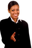 Business Woman. Young Black Business Woman Royalty Free Stock Photos